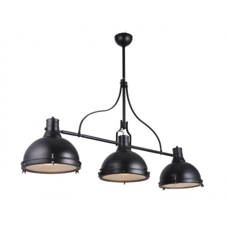 suspension lumi re lampa style industriel noir avec 3. Black Bedroom Furniture Sets. Home Design Ideas
