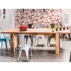 Table en chêne naturel huilé BJORN style loft industriel