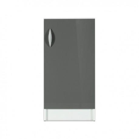 Élément bas 1 porte 40 cm OXANE laqué brillant avec 1 étagère