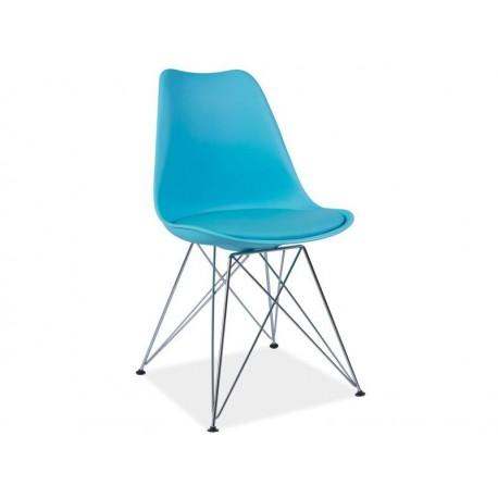 Chaise avec pieds métal TIM bleu, jaune, rouge, noir ou gris