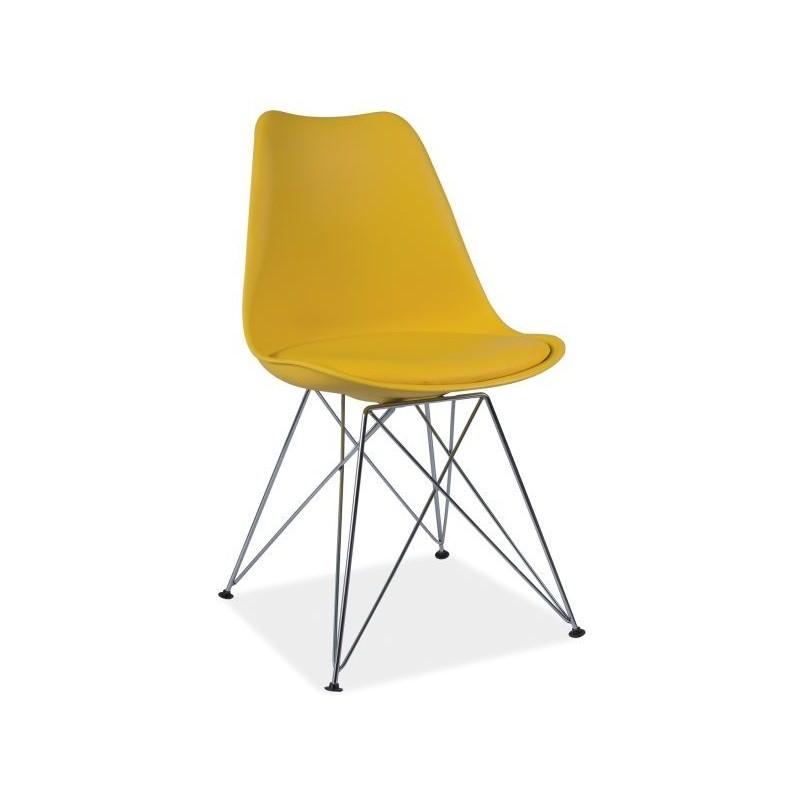 Chaise dsr tim design eames avec pieds en m tal for Chaise un pied