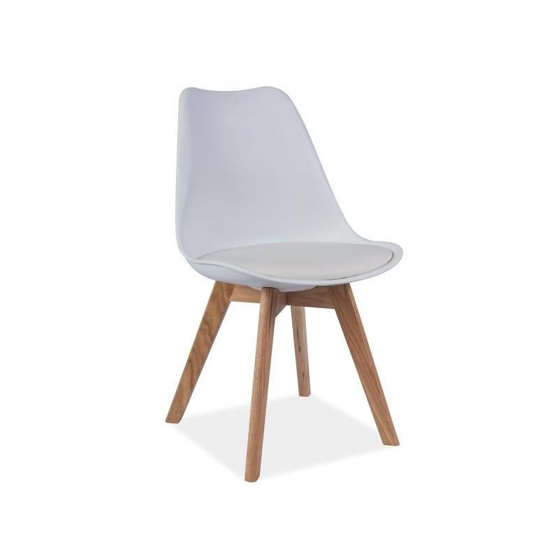chaise kris i style scandinave avec pied en bois. Black Bedroom Furniture Sets. Home Design Ideas