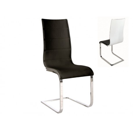 Chaise design evan en simili cuir for Chaise en simili cuir