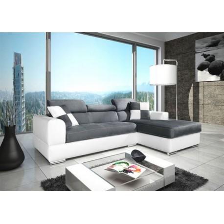 canapé d'angle design neto avec têtières ajustables. grande qualité.