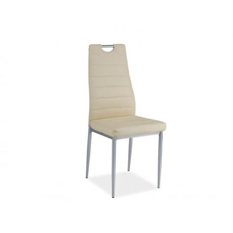 Chaise BASILE simili cuir avec poignée chrome