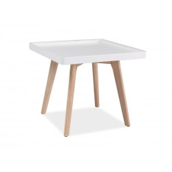 Table basse carrée MILINI style scandinave