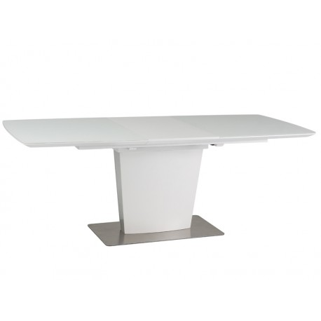 Table pliante FELIPE en MDF et verre trempé 8 personnes