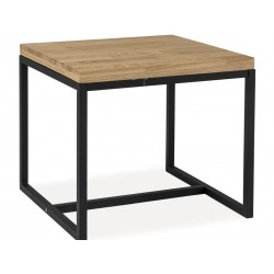 Table basse carr e loras style industriel for Table carree style industriel