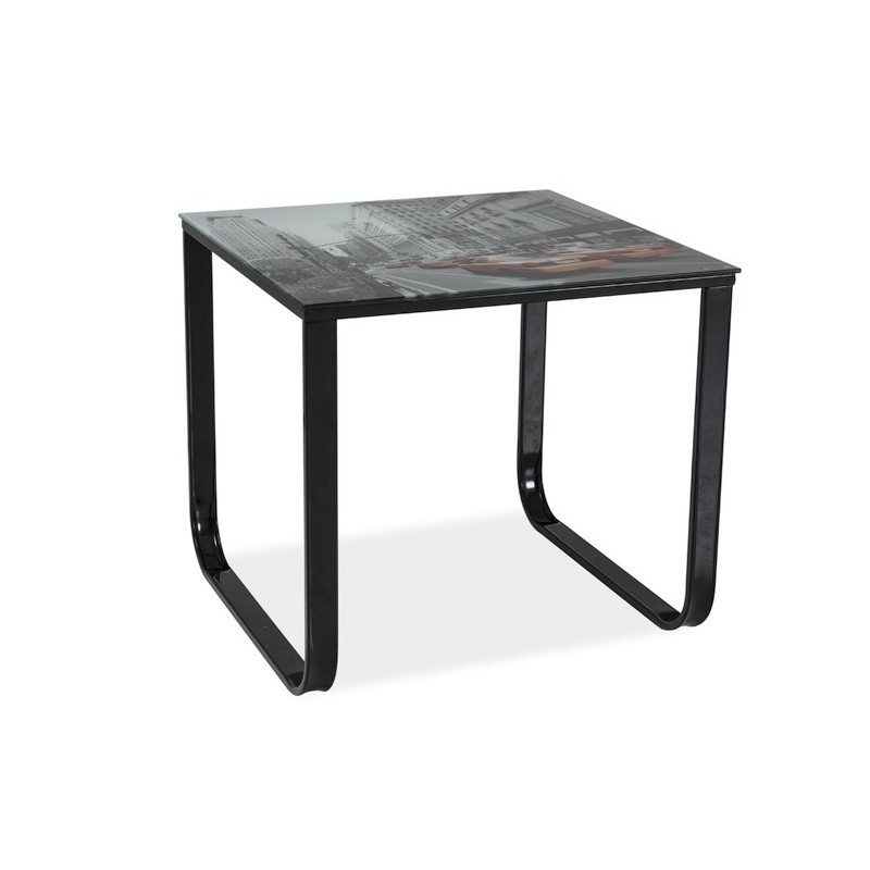 table basse taxi avec imprim new york. Black Bedroom Furniture Sets. Home Design Ideas