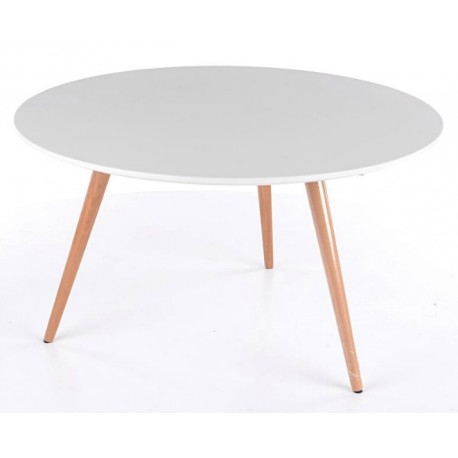 Table basse ronde NOLANO style scandinave