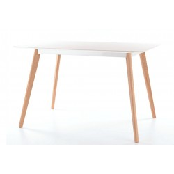 Table MILAN plateau blanc MDF style scandinave