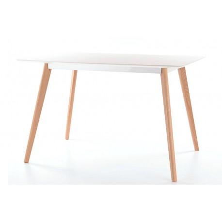 Table MILAN plateau blanc MDF style scandinave