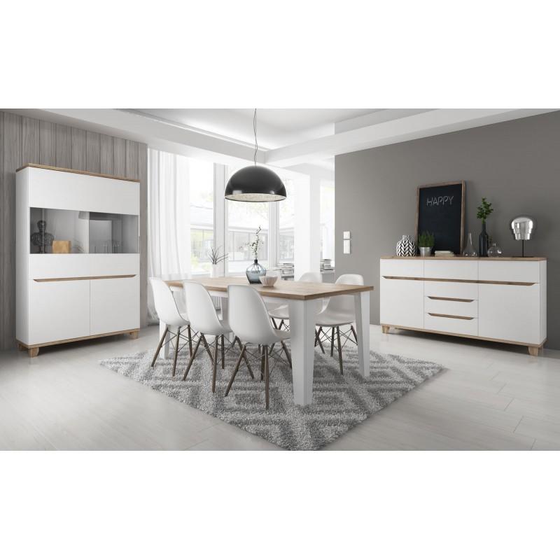 Salle manger compl te lier style scandinave et nordique for Table de salle a manger style nordique