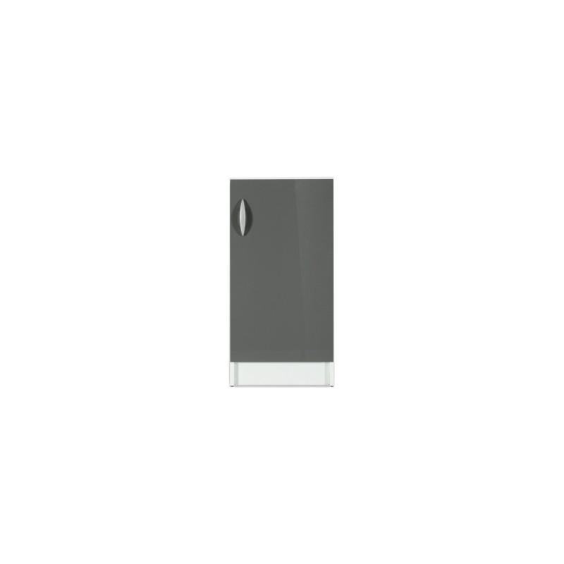 Meuble de cuisine bas 1 porte 60 cm oxane laqu brillant for Porte 60 cm cuisine