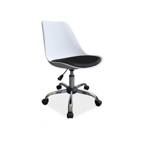 Chaise de bureau pivotante JOOP noire et blanche