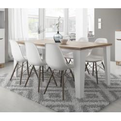 Table LIER couleur blanc et bois style scandinave