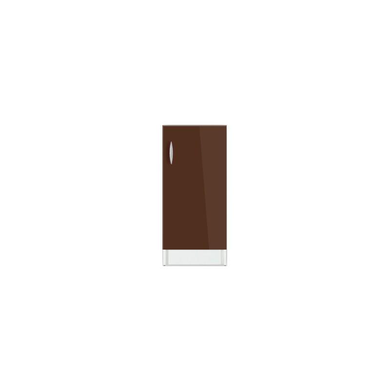 Meuble de cuisine bas 1 porte 60 cm oxane laqu brillant for Meuble etagere avec porte