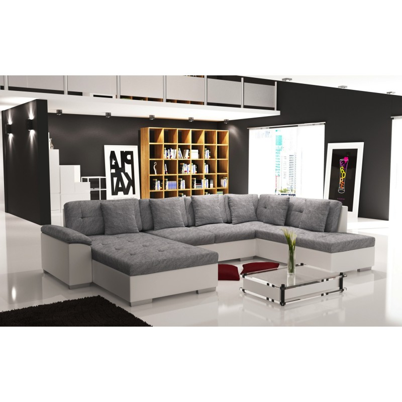 canap d 39 angle panoramique en u smile de 6 7 places. Black Bedroom Furniture Sets. Home Design Ideas