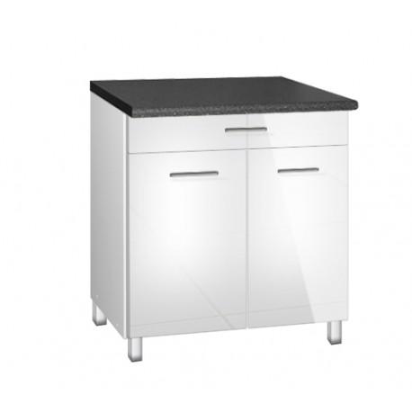 meuble de cuisine bas 80 cm 1 tiroir tara avec pieds r glables. Black Bedroom Furniture Sets. Home Design Ideas