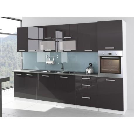 cuisine compl te laqu e 3m20 tara avec colonne four. Black Bedroom Furniture Sets. Home Design Ideas
