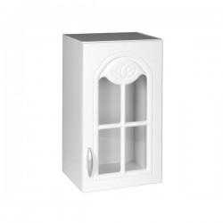 Modifier : Élément haut 1 porte vitrine 40 cm DINA mélaminé avec 1 étagère