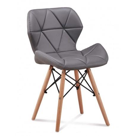 chaise scandinave eliot matelasse pied en bois dsw - Chaises Scandinaves Couleur