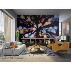 papier peint lumières multicolores disco