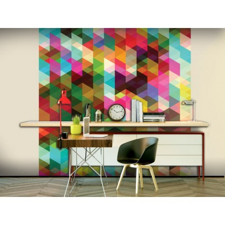 Papier peint COLOURFUL GEOMETRY scandinave coloré formes geometriques