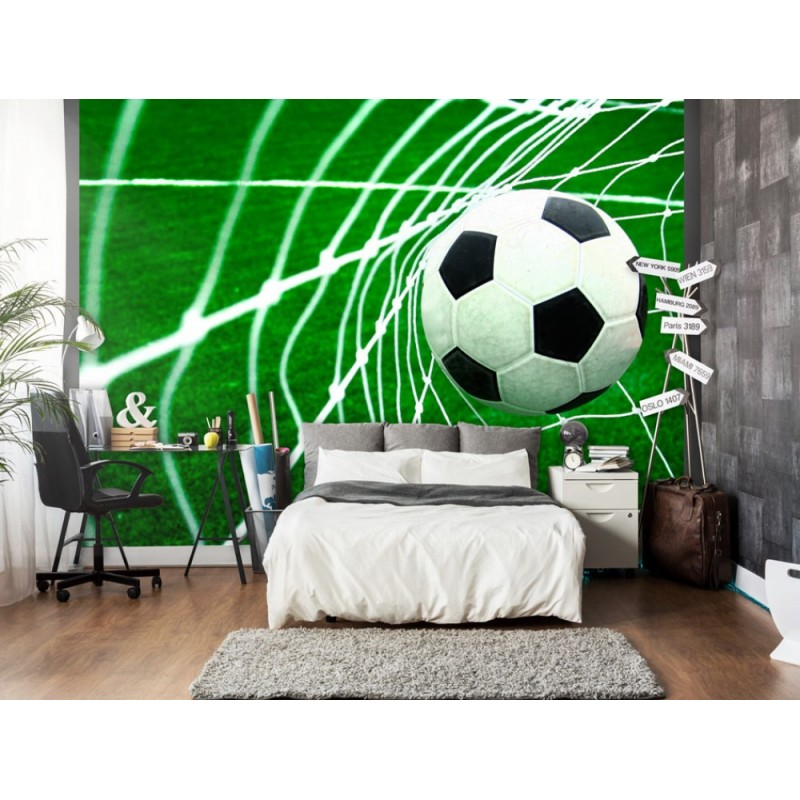 papier peint foot goal tendencio. Black Bedroom Furniture Sets. Home Design Ideas