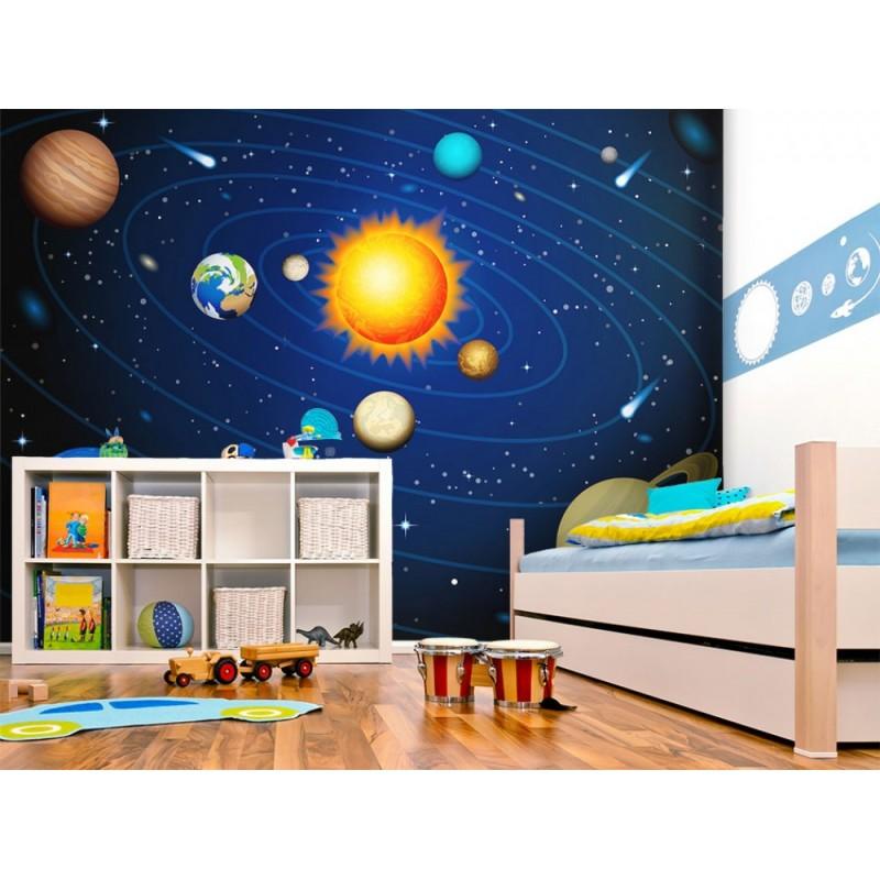Papier peint pour chambre d 39 enfant systeme solaire tendencio - Papier peint pour chambre d enfant ...