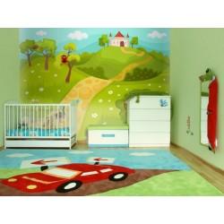 Papier peint pour chambre d'enfant : château magique