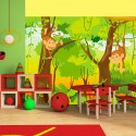 Papier peint pour chambre d'enfant : Jungle et singes