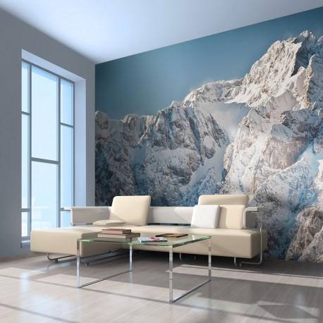 Papier peint - Paysage enneigé alpes