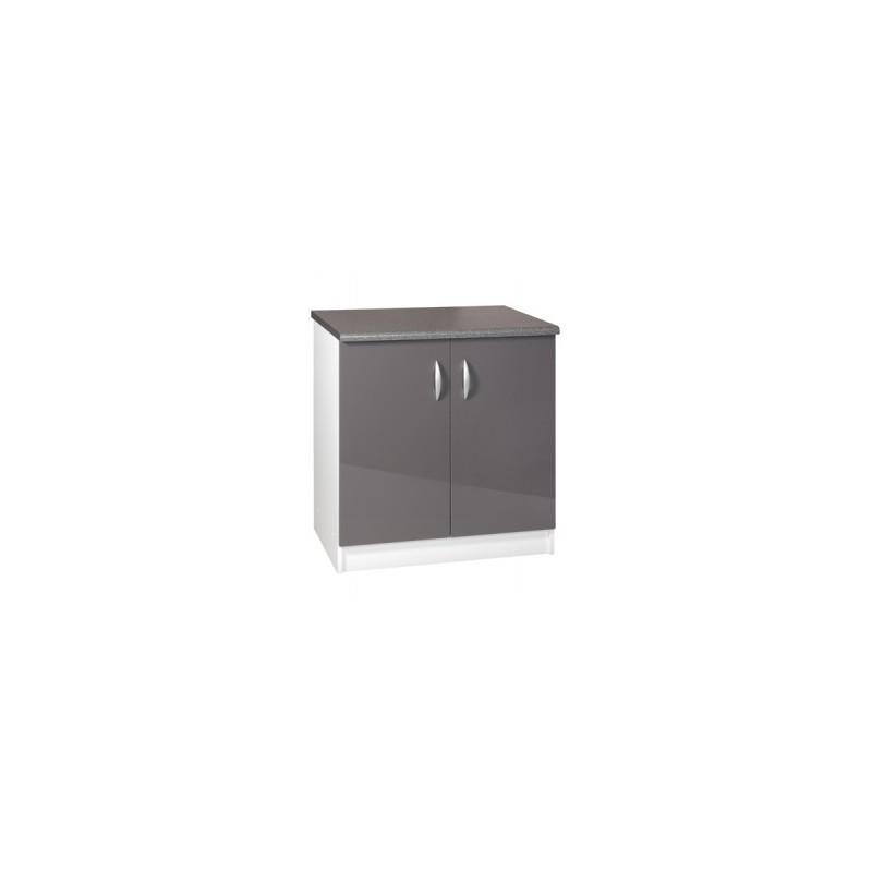 meuble de cuisine bas sous vier cuisine oxane 80 cm 2. Black Bedroom Furniture Sets. Home Design Ideas