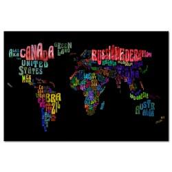 Tableau carte du monde Le Nom des Pays