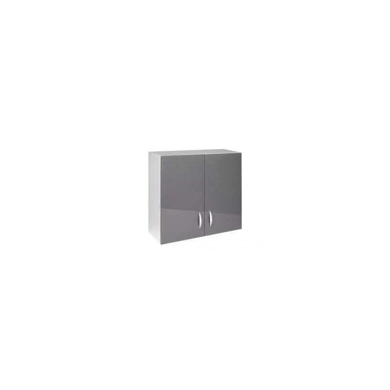 meuble de cuisine haut 2 portes 80 cm oxane laqu brillant. Black Bedroom Furniture Sets. Home Design Ideas