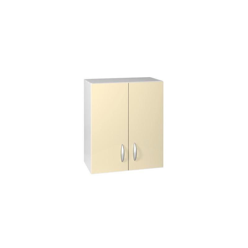 Meuble de cuisine haut 2 portes 80 cm oxane laqu brillant - Meuble haut cuisine 80 cm ...