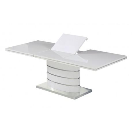 Table en MDF blanc FABIO avec rallonge