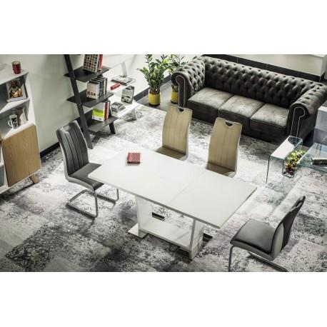 Table moderne ROSA laquée avec rallonge