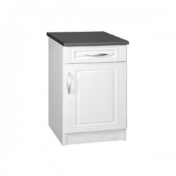 Meuble de cuisine bas 1 porte 60 cm DINA mélaminé avec 1 tiroir et 1 étagère