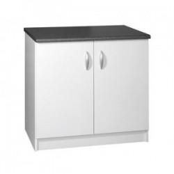 Meuble de cuisine bas 2 portes 90 cm OXANE laqué brillant avec 1 étagère