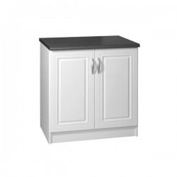 Meuble de cuisine bas 2 portes 80 cm DINA mélaminé avec 1 étagère
