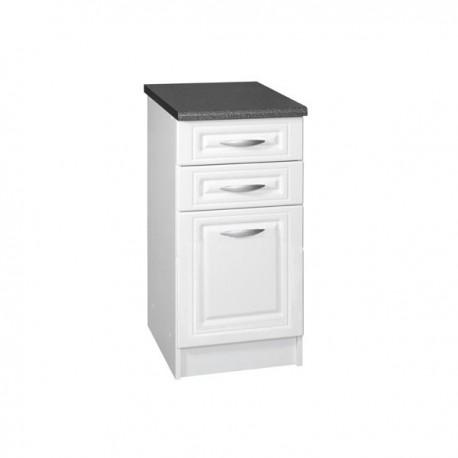 meuble de cuisine bas 3 tiroirs 40 cm dina avec 3 tiroirs. Black Bedroom Furniture Sets. Home Design Ideas