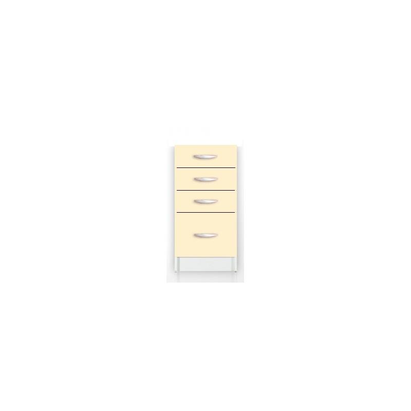 Meubles de cuisine bas 4 tiroirs 40 cm oxane laqu for Meuble tiroir 40 cm