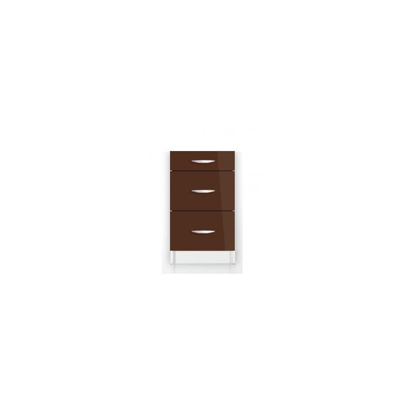 meuble de cuisine bas 3 tiroirs 50 cm oxane laqu brillant. Black Bedroom Furniture Sets. Home Design Ideas