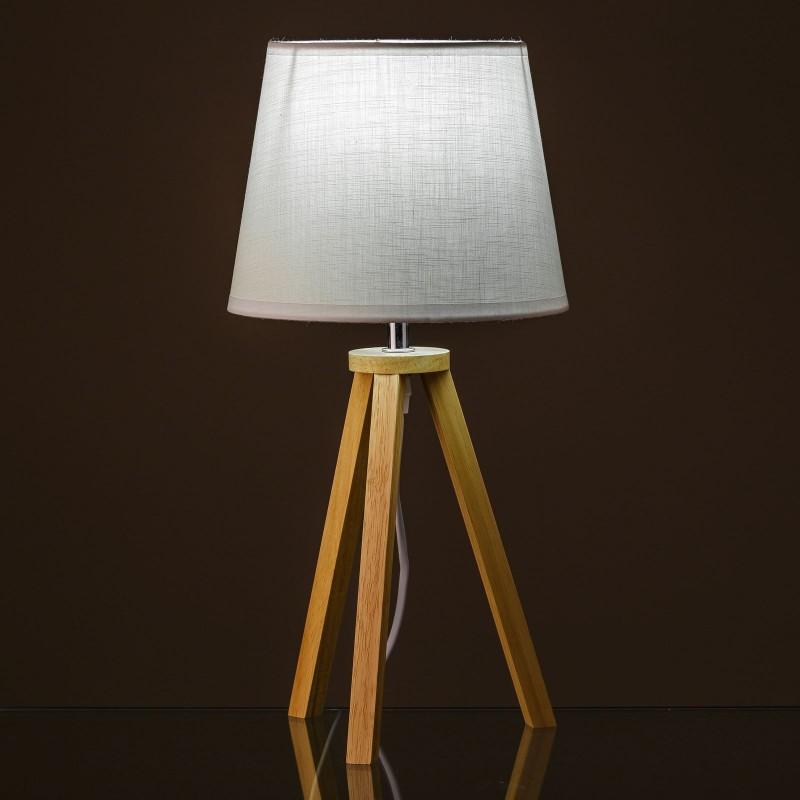 lampe en bois blanc style scandinave. Black Bedroom Furniture Sets. Home Design Ideas