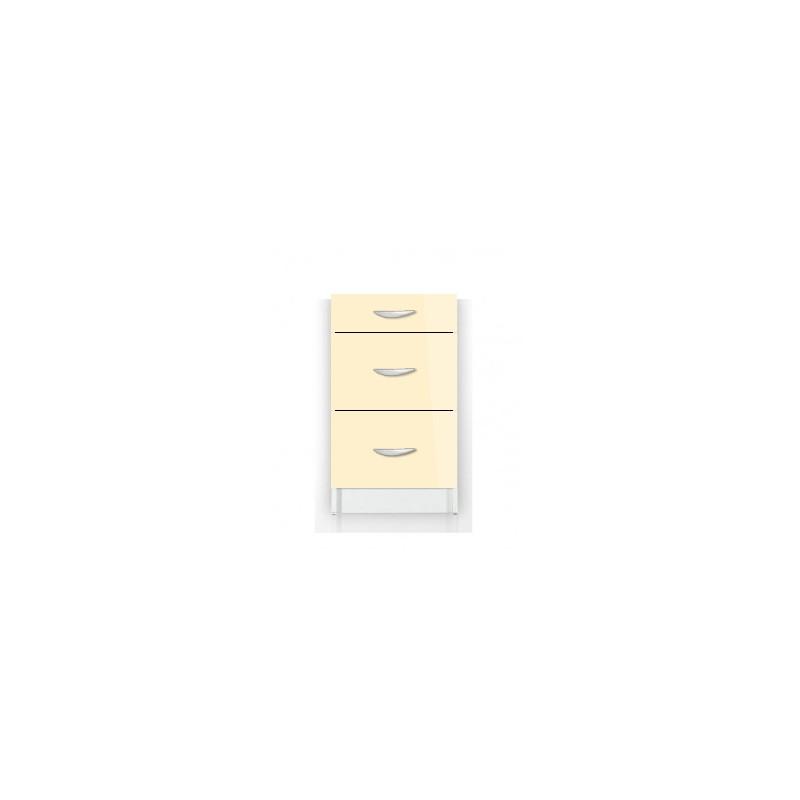meuble de cuisine bas 3 tiroirs 50 cm oxane laqu brillant avec 3 tiroirs. Black Bedroom Furniture Sets. Home Design Ideas
