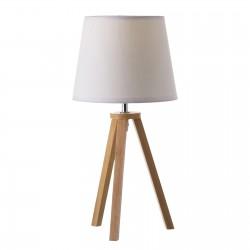 Lampe en bois blanc style scandinave