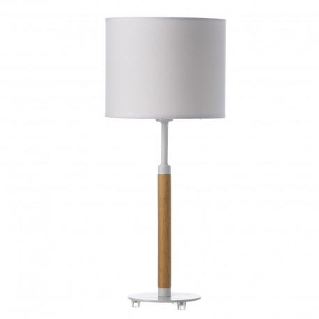 Lampe bicolore abat-jour blanc