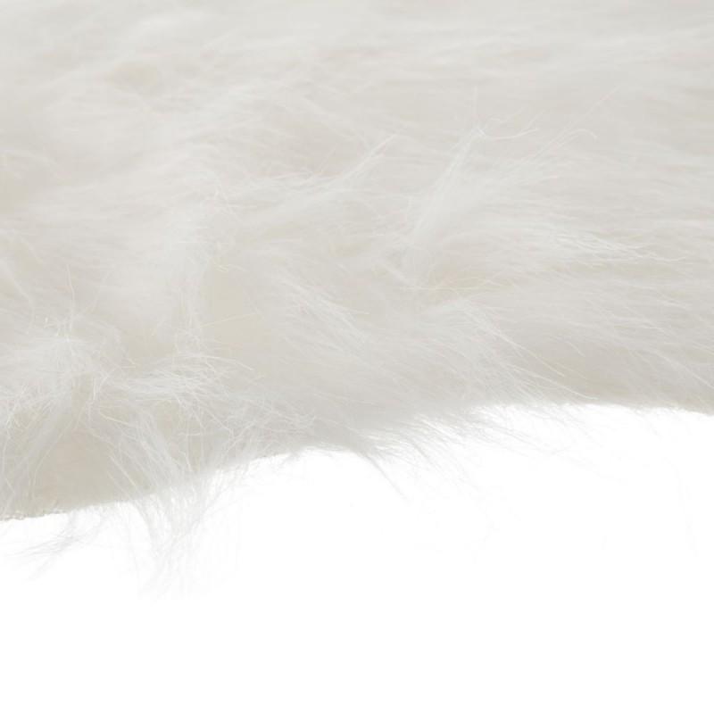 tapis sheepskin fausse fourrure peau de mouton blanc 57 x 94 cm. Black Bedroom Furniture Sets. Home Design Ideas